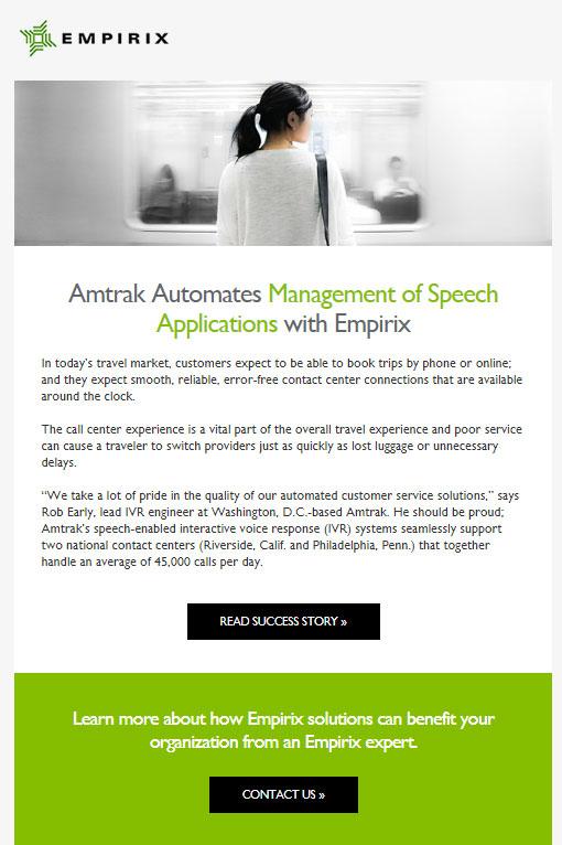 Amtrak case study email