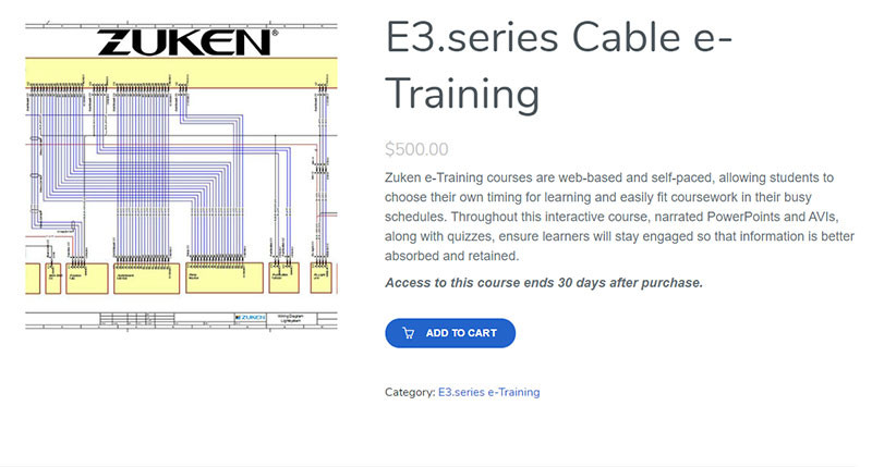 E3.series Cable e-Training product page