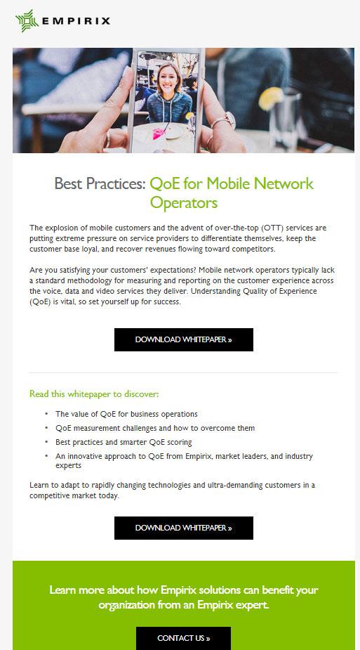 QoE for Mobile Operators
