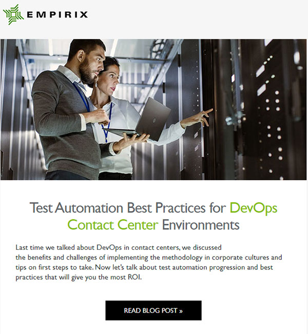 Test automation best practices email