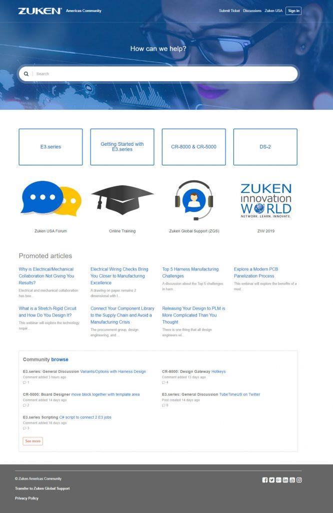 Zuken Americas Community homepage