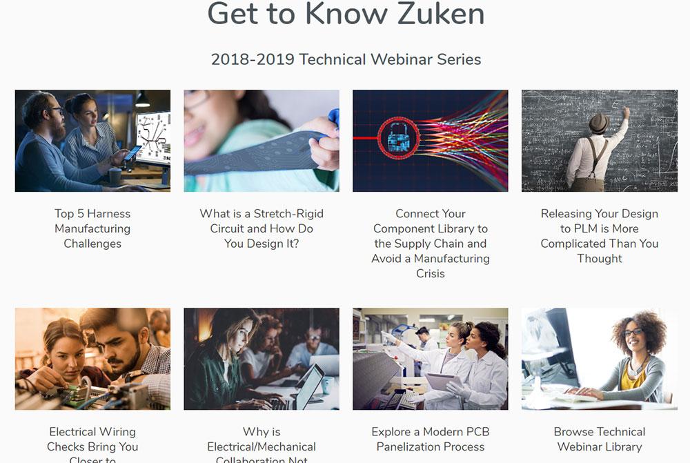 Zuken USA homepage screenshot