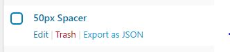 Export from JSON