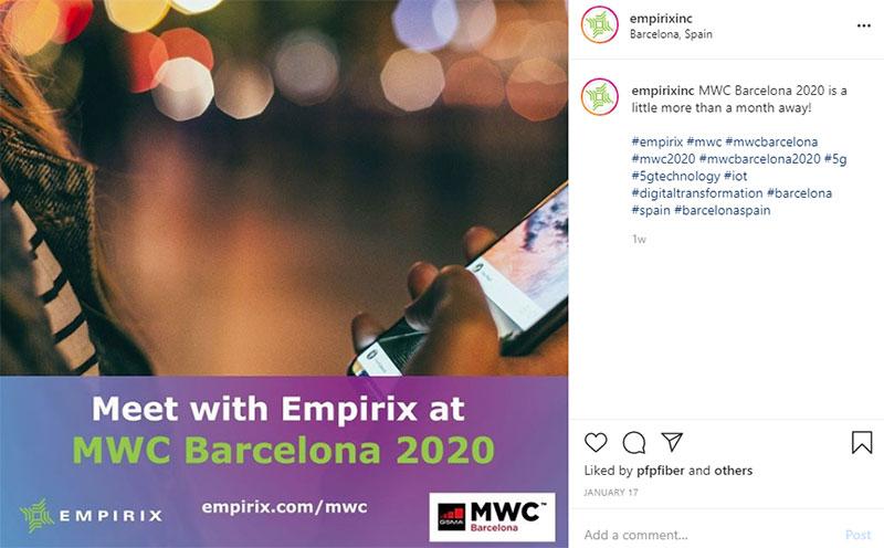 MWC Barcelona 2020 promo screensot