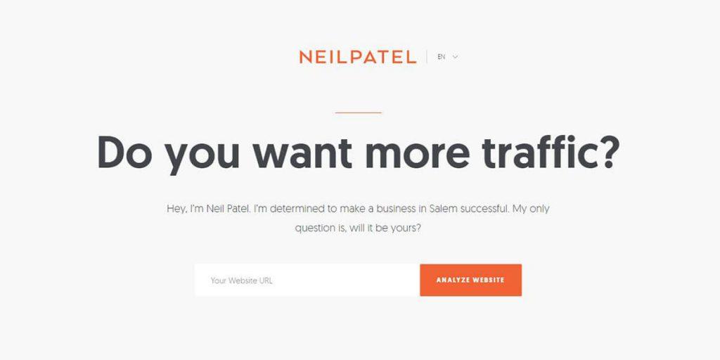 NeilPatel.com: Homepage Hero